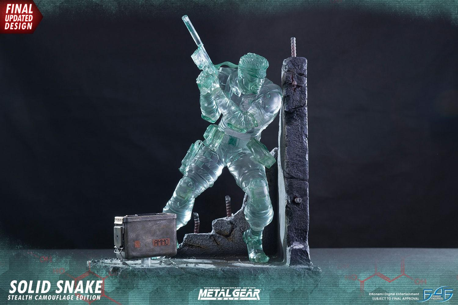 STATUA METAL GEAR SOLID SNAKE 44 CM STEALTH CAMOUFLAGE SIGNATURE EDITION